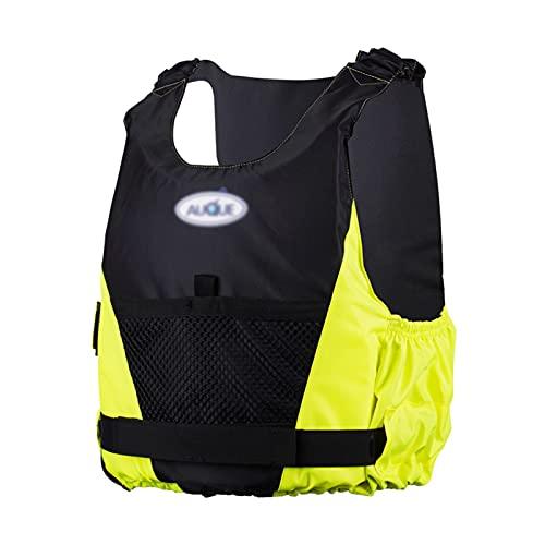 Chaleco Salvavidas Chaleco de Natación para Adultos - Chaqueta Flotante Inflable para Principiantes de Deportes Acuáticos Hombres Mujeres Seguridad Ayuda a la Flotabilidad(Size:Grande,Color:Amarillo)