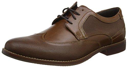 Rockport Style Purpose Perf Wing Tip, Zapatos de Cordones Derby Hombre, Marrón (Brown), 42 EU