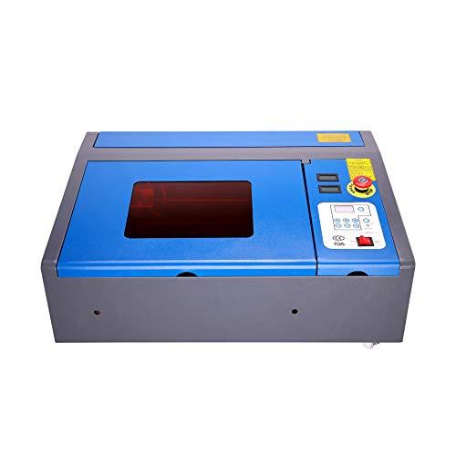Orion Motor Tech Macchina per Incisione Laser CO2 Incisore Laser Stampante Laser Engraver Regolabile con Connettore USB Universale (40W 200 X 300mm)
