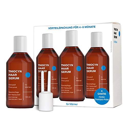 Thiocyn Haarserum für Männer • 3x150 ml Vorteilspaket • geprüfte Spezialpflege bei Haarausfall • unterstützt Haarwachstum • MADE IN GERMANY