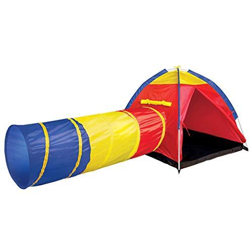 NBVCX Life Accessories Carpa para niños con pasaje de rastreo Casita de Juegos Interior para niños y niñas Foso de Bolas fácil de Montar Fuerte y Estable Espacio Grande para 2 4 niños