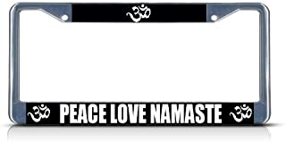 Fastasticdeals Peace Love Namaste License Plate Frame Tag Holder Cover