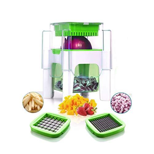 YAeele Máquina de Cortar el Interruptor Vegetal de la Patata Cebolla Vegetales y Frutas Francesa Fry CutterPotato Cortador Verde Herramientas de Cocina