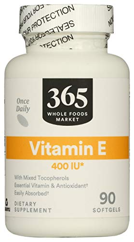 365 by Whole Foods Market, Supplements - Vitamins, E 400 IU, 90 Count