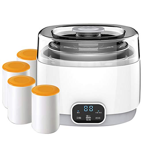 Why Choose Automatic Yogurt Maker - With 4 Porcelain Jars Home Stainless Steel Liner Timing 19019016...