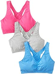 Fruit of the Loom Women's Shirred Front Racerback Bra