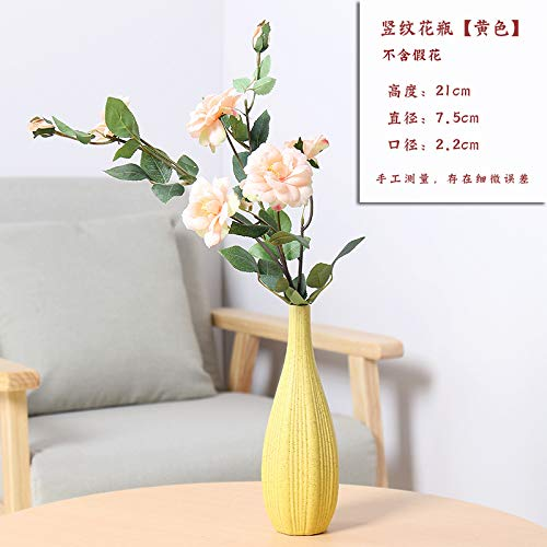 DZSF Keramikvase Dekoration, Trockenblumengesteck Garten Kleine Frische Kreative Einfache Schrank für Zuhause Und Hochzeitsdekoration (Blume Nicht Enthalten),b