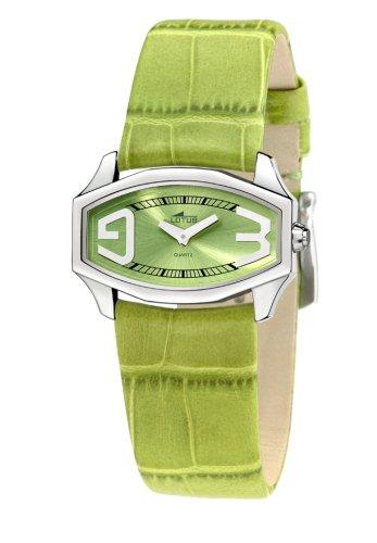 Lotus Lotus 15401-4 - Reloj analógico de mujer de cuarzo con correa de piel verde - sumergible a 30 metros