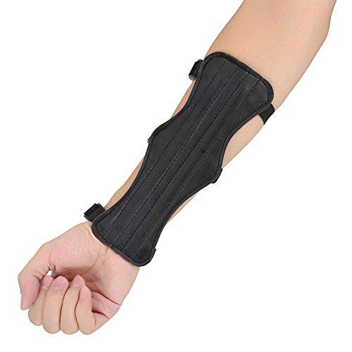 Protector de Brazo de Tiro con Arco Protección de antebrazo (Piel sintética, con 3 Correas elásticas Ajustables
