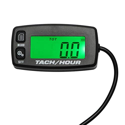 Digital Tach Maintenance Hour Meter for PWC ATV Motorcycles Chain Saws Tractors Lawnmowers and Any Gasoline Powered Tools