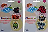 Sweetie Stick-On Fever Indicator Liquid Crystal Thermometer Patch Strip Stickers for Kids Baby and Adult 2 PAC 6 Stickers