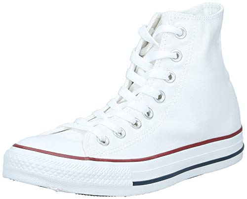 Converse Chucks Taylor All Star Hi Leder, Unisex - Erwachsene Sneaker, Weiß (Optical White), 44 EU