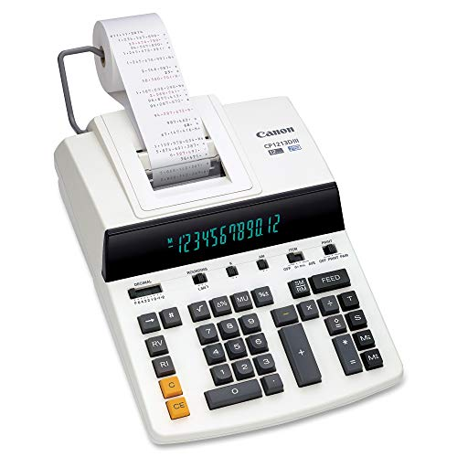 "Canon Office Products CP1213DIII Desktop Printing Calculator, White, 6"" x 11"" x 17"""