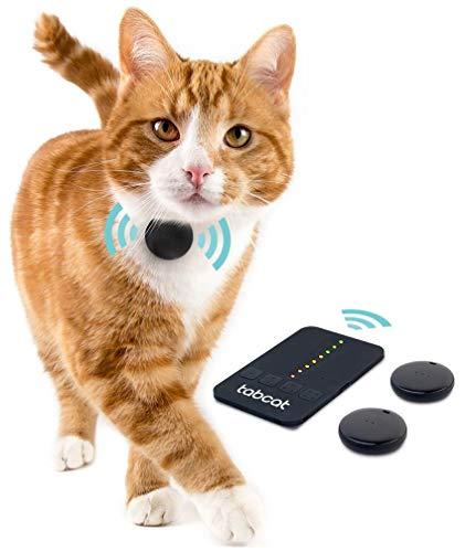 Loc8tor Tabcat Tracker – Katzen Tracker ohne Abo, Mini Ortungsgerät für Katzen & Haustiere, funktioniert ohne GPS, sehr leichter Peilsender für Katzen-Halsband, 122 m Reichweite, Katzenortungsset