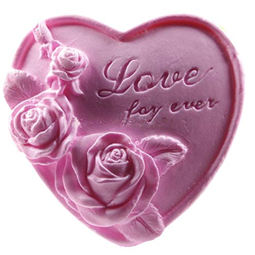 GreatMold Rose Flower Silicone Soap Bar Molds Valentine Heart Shaped DIY Craft Handmade Soap Mold Cake Decoration Mold Art Crafts Mould