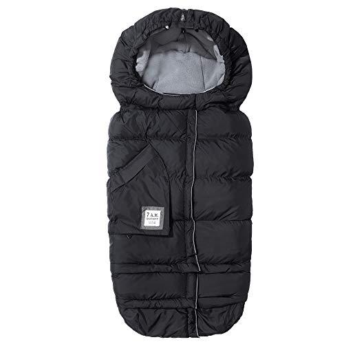 7AM Fußsack für Kinderwagen Kindersitz Babyschale - Blanket 212 Evolution Baby Wintersack für Autositz Gurte, oder Wagen wächst mit dem Kind (6M - 4J)