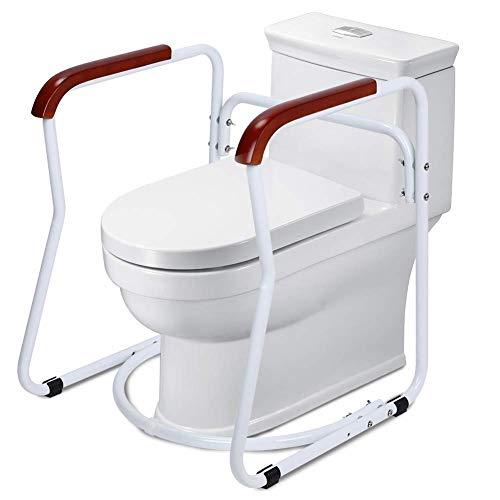 Cocoarm Toilettengestell Rutschfest Sicherheitsgestelle für Toiletten WC-Aufstehhilfe Badezimmer Toiletten Sicherheits Haltestange für Senioren