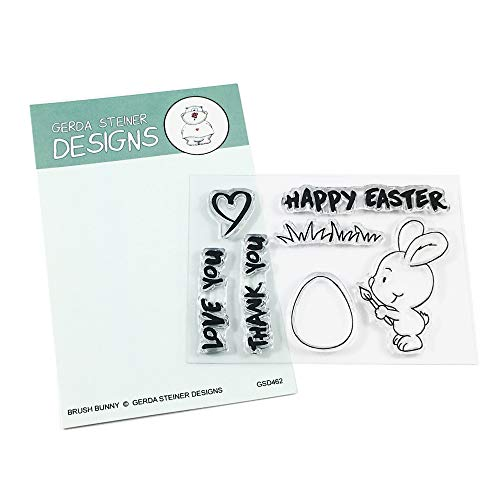 Brush Bunny Clear Stamp Set 3x4 Inches