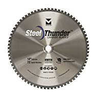 """Mercer Industries 721401 Steel Thunder 72 Tooth Carbide Chop Saw Blade for Mild Steel, 14"""" x 1"""""""