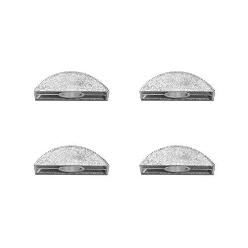 M8 8 mm Halbmond Maxi Luna Ersatz-Unterlegscheiben für Etagenbetten und Kinderbetten – ohne Gewinde