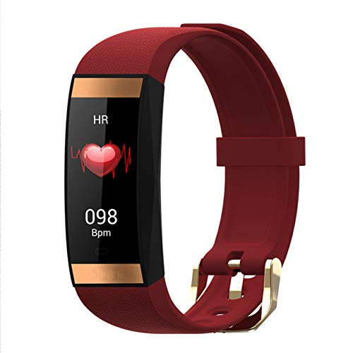 YDZ Sra. E78 New Smart Hand Pantalla Táctil IP68 Impermeable Bluetooth Bluetooth Sporthy Sports Tarifa Cardíaca Monitor De Presión Arterial Pulsera Inteligente Pulsera Android iOS,B