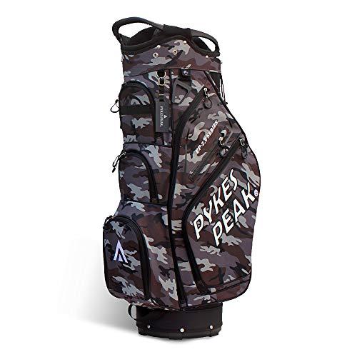 【公式】 PYKES PEAK「パイクスピーク」ゴルフバッグ【軽量 2.4kg 全6色 14本収納】 キャディーバッグ (カートタイプ【47インチ対応/9.5 型】 ゴルフ カートバッグ メンズ レディース 2020 日本初上陸 PP-02-SERIES【