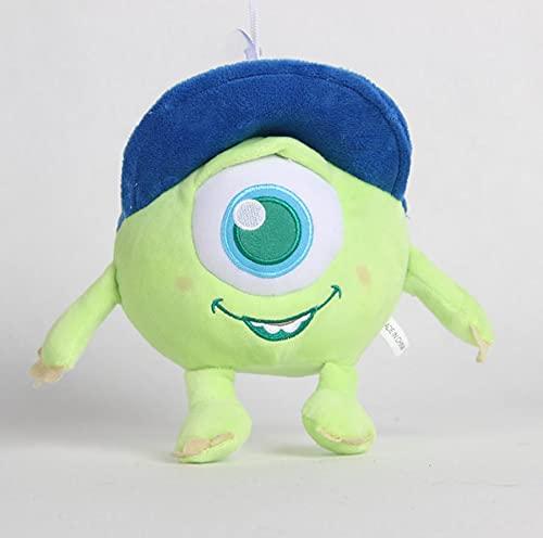 beibeiwang Monsters University Mike Wazowski 20cm Disney Pixar Juguetes de Peluche Mr.Q Plush Kawaii Anime Regalo de cumpleaños para niños de 2 a 4 años
