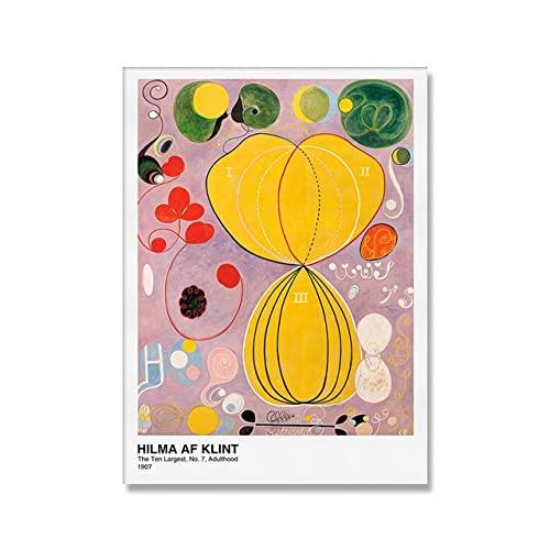 Impresión de arte de cartel moderno abstracto, cuadros de pared de pintura de lienzo escandinavo inspirador, pintura de lienzo sin marco A6 30x45cm