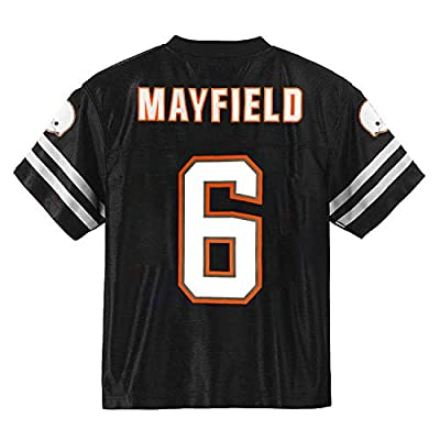 Outerstuff Baker Mayfield Cleveland Browns Blackout Youth Alternate Player Jersey (Medium 10/12)