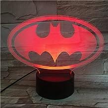 3D Night Light for Children USB 3D Led Night Light Dc Justice LeagueCartoon Hero Children Boys Birthday Gifts Bedside Lamp