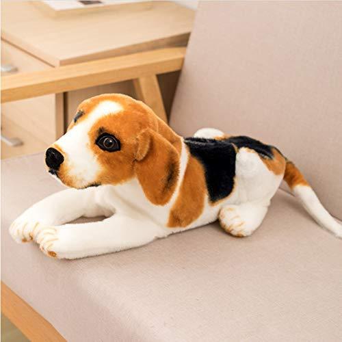 JIAL Simulation Hund Plüsch Spielzeug Gewebe Tasche Gefüllte Papierbox Real-Life Dog Welpen Gewebe Aufbewahrungstasche Kreative Geschenk Home Decoration 46cm Chongxiang