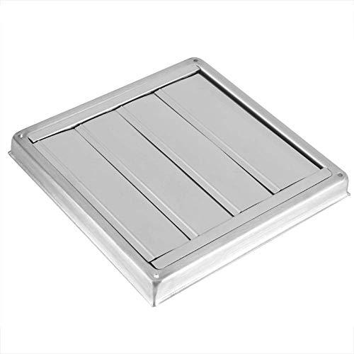 Gancon Rejilla de ventilación,Square Tumble, Salida de Ventilador Extractor de secador de Acero Inoxidable de 100 mm