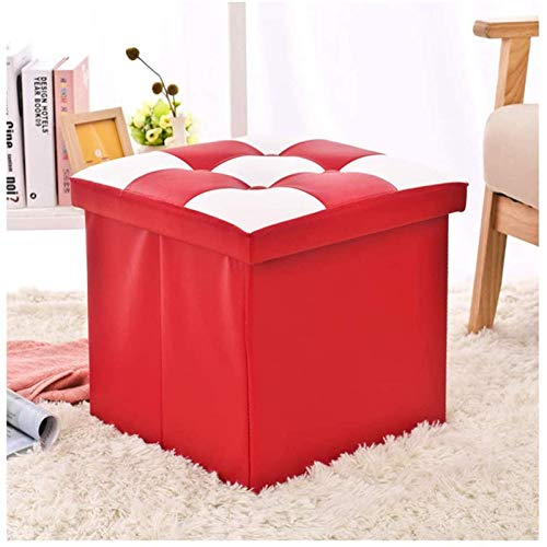 GCE Footstool Footstool Footstools Space Saving Padded Cube Footstool Folding Footstool Storage Stool Toy Storage Box Footstool in Living Room Bedroom
