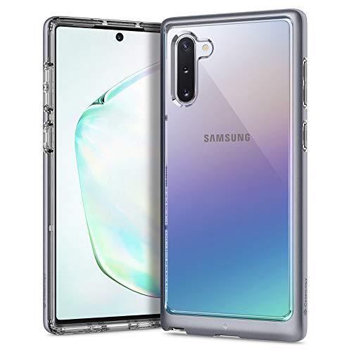 Hülleology Skyfall Kompatibel mit Samsung Galaxy Note 10 Hülle, Transparent PC Rückschale Silber Bumper Hülle, Samsung Galaxy Note 10 Hülle (Silver)