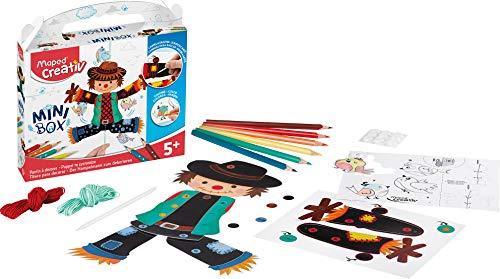 Maped Creativ - Mini Box Activités manuelles Enfants - Kit Cartes à gratter pour Enfants Marionnette Pantin à Décorer et monter - Scratch card - Loisirs créatifs Enfants Dès 5 ans