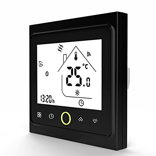 QAIYXM Thermostats for home, WiFi Smart Thermostat and Temperature Controller with 5+2 six cycles programmable/Child lock function, Compatible with Tuya App and Alexa and Google Home (Color : B)