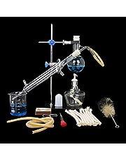 Labware YIGEYI 100 ml Lab etherische olie destillatie apparaat water destiller zuiverer condensator glaswerk Kits W/slang Flask complete set