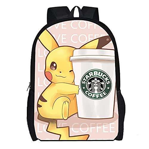 DBCJVB Exquisita mochila estampada en 3D en tela Oxford 40x30x15cm Animación japonesa Pikachu Es un producto muy adecuado para regalos.