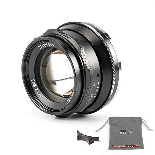 7artisans 35mm f1.2 Großer Prime APS-C Aluminium Objektiv für Sony E Mount spiegellose Kameras A6500 A6300 A6100 A6000 A5100 A5000 A9 NEX 3 NEX 3 N NEX 5 NEX 5T NEX 5R NEX 6 7