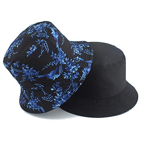 UBBVPKY Bucket Hat - Sombrero De Cubo Reversible con Estampado De Estilo Chino De Verano, Viajes Al Aire Libre, Camping, Sombreros para El Sol Plegables, Hombres, Mujeres, Algodón, Moda, Sombrero De