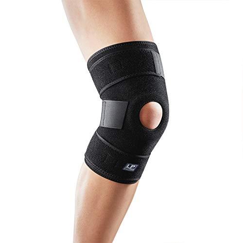 LP Support 758-KM offene Kniebandage - Kniegelenkstütze - Knieschoner - Knieschutz - Kniestütze - Sportbandage, Größe:Universalgröße, Farbe:1 x schwarz