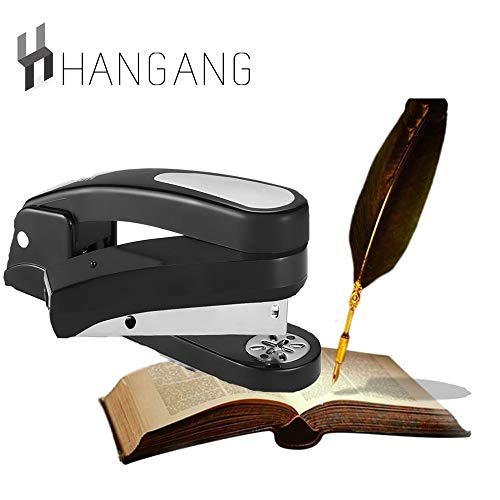 Hangang Grapadoras Giratorias De 360 Grados, Capacidad De 20 Hojas Especializada Para El Grapado De Folletos Con Bloqueo De Dirección