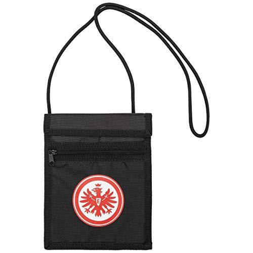 Eintracht Frankfurt Brustbeutel - Logo - schwarz Geldbeutel, Geldbörse SGE - Plus Lesezeichen I Love Frankfurt