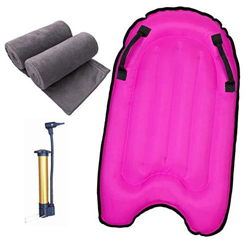 Backboards Tablas Paddle Surf Hinchable,Duradero Tabla De Surf De Remo,Equipo Auxiliar de Natación al Aire Libre,Adolescentes Niños Principiante de Verano,Pink