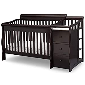 Delta Children Princeton Junction Convertible Crib and Changer, Dark Chocolate