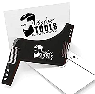 ? BARBER TOOLS ? Beard Shaping Tool | Beard Shaper Guide | The Beard Styling Template | with its envelope - Shaving guide accessory for beard outlines. from BARBER TOOLS