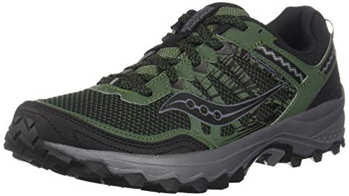 Saucony Men's Grid Excursion TR12 Trail Running Shoe, Green/Black, 10.5 M US