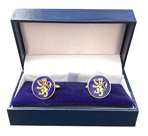Schottland Löwe Wilder Emaille verziert Manschettenknöpfe (N18) Verpacktes Geschenk