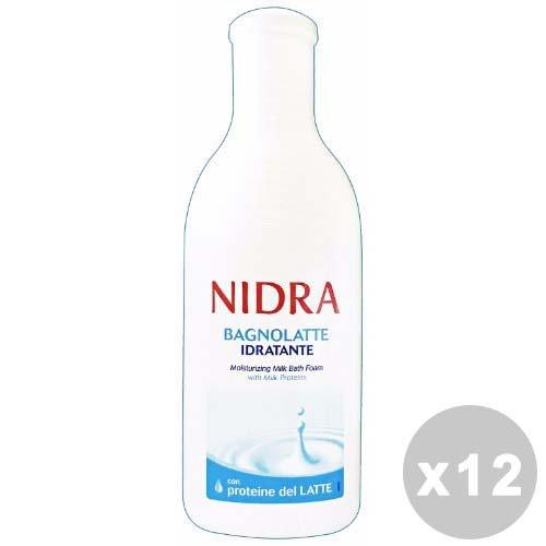 Juego 12Palmolive Nidra baño leche 750ml. saponi y cosméticos