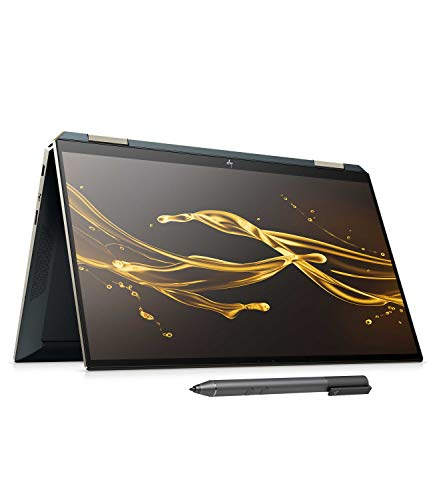 HP Spectre x360 13-aw0021ng (13,3 Zoll / FHD Touch) Convertible (Intel Core i7-1065G7, 16GB DDR4 RAM, 512GB SSD, 32GB Intel Optane, Intel Iris Plus Grafik, Win10) poseidon blue inkl. Pen + USB-C Hub